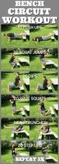Weight Bench Workout Plan Best 25 Bench Exercises Ideas On Pinterest