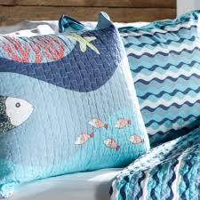 Ocean Bedspread Sea Life Quilt Set Blue Walmart Com