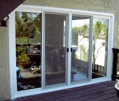 Secure Sliding Windows Decorating Decorating 4 Panels Sliding Glass Patio Doors And Windows With