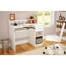 White Computer Desks For Home South Shore Axess White Computer Desk And Printer Stand 11269