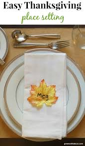 green with decor easy thanksgiving place setting