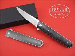 titanium kitchen knives jufule yidu kwaiken bearing flipper folding knife vg 10 blade