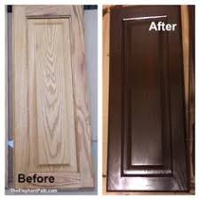 How To Gel Stain Cabinets by Side By Side Of Two Of General Finishes Most Popular Colors Java