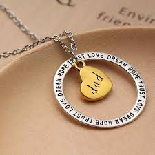 heart charm pendant necklace images Vintage silver charm love dream hope trust words circle heart jpg
