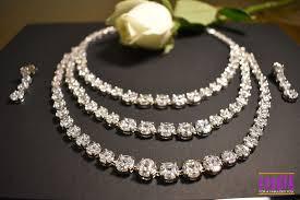 necklace stone setting images Buy mesmerizing three line precious white cz stone necklace set jpg