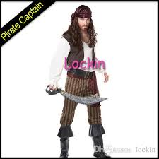 Jack Sparrow Halloween Costume Pirates Caribbean Captain Jack Sparrow Cosplay Suit