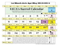 biblical calendar iaua s true lunar solar sabbath calendar april 2013