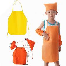 tablier cuisine enfants non tissé cuisine enfants manchettes chapeau tabliers ensemble