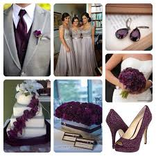 plum wedding plum and grey wedding colors