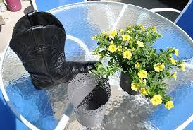cowboy boot planter sparkles of sunshine