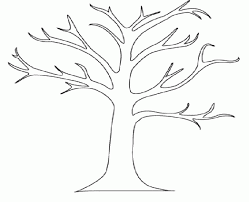 printable tree without leaves coloring for tree coloring