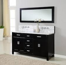 Small Double Sink Vanities Bathroom Rectangle Black Wooden Small Double Sink Vanity With