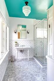 bathroom ceiling design ideas dip a toe into bold color painted ceilings in the bathroom