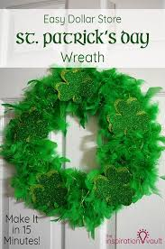 s day wreaths easy dollar store st s day wreath pound shops wreaths