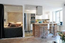 coin chambre dans salon chambre salon aménagements astucieux pour petits espaces lofts