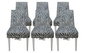 Zebra Dining Chairs Animal Print Dining Room Chairs Amusing Zebra Regarding