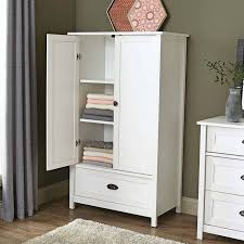 White Vintage Armoire Bedroom White Armoire Furniture With 5 Drawers And Mirror For