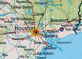 map of houston area service area map