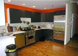 cuisine verte et marron deco cuisine marron cuisine vert marron decoration cuisine orange