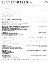 Resume Sle For Assistant Internship Fashion Resumes Internship Fashion Free Resume Images