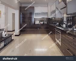 kitchen modern style dining kitchen modern style 3d images stock illustration 259965791