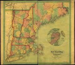 New England State Map by File 1854 Rail Road Map Of The New England States Jpg Wikimedia