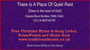 A Place Hymn There Is A Place Of Rest Hymn Lyrics Orchestral