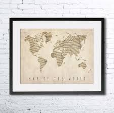 wondrous music themed room decorating ideas map of the world