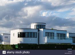 21st century pastiche of a streamline modern art deco style house