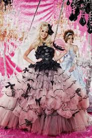 beautiful black and pink wedding dress contemporary style and