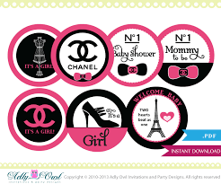 chanel baby shower coco chanel cupcake toppers for a baby shower baby shower