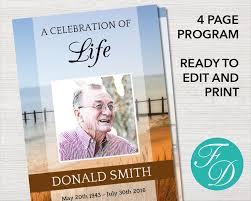 136 best funeral programs for men obituary templates u0026 prayer