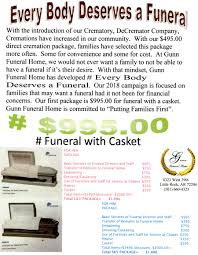 funeral packages gunn funeral home packages