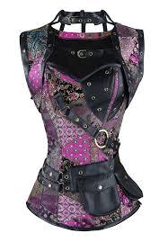 halloween corset steel boned steampunk gothic vintage overbust corset for halloween