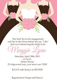 bridal invitations bridal and bachelorette invitations wedding announcement
