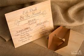 wooden wedding invitations cards of wood inc wedding invitations business cards
