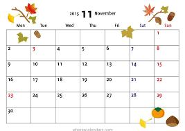 calendar 2017 september october november