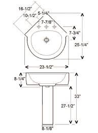Small Corner Pedestal Bathroom Sink Pedestal Sink Dimensions Befon For