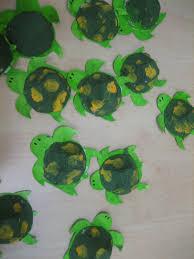blue daisies turtle music shaker craft
