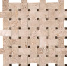 Basket Weave Kitchen Backsplash by Ms International Marble Mosaic Crema Cappuccino Crema Cappuccino