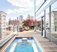 home beautiful pool at penthouse in new york city with glass