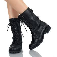 womens boots at payless black combat boots