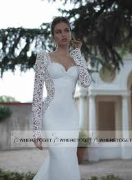 Long Sleeve Lace Wedding Dress Open Back Bridal Gowns 2015 Mermaid Trumpet Sweetheart Long Sleeve Wedding