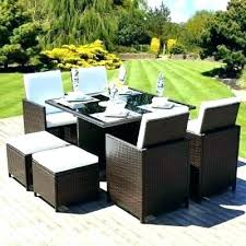 Rattan Table L Outdoor Rattan Garden Furniture L Shape Corner Sofa Set In