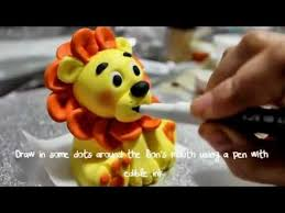 lion cake topper how to make a lion topper part 2