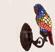 Tiffany Sconces Parrot Shaped Tiffany E12 E14 Unique Wall Sconces