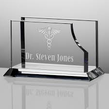 Unique Business Card Holder Desk by Any Doctor Would Be Thrilled To Receive This Personalized Crystal