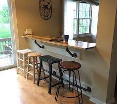 breakfast bar along empty kitchen wall pass through pinterest