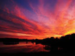 enjoying a beautiful minnesota sunset in the backyard