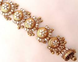 hair accessories for indian weddings white kundan golden oxidized indian bridal wedding hair braid